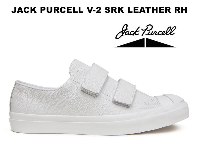 コンバース ジャックパーセル V-2 シュリンク レザー ベルクロ RH ホワイト CONVERSE JACK PURCELL V-2 SRK LEATHER WHITE レディース メンズ スニーカー 白 限定