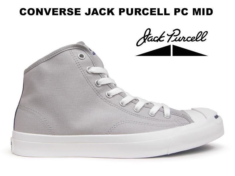 【残り25.5 26.5センチ】コンバース ジャックパーセル CONVERSE JACK PURCELL PC MID R グレー ハイカット スニーカー レディース メンズ