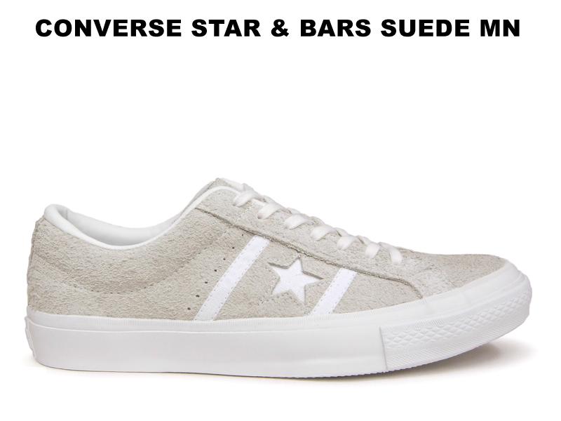 CONVERSE STAR&BARS コンバース スター&バーズ スエード MN ホワイト/ホワイト モノトーンカラー ワンスター 白