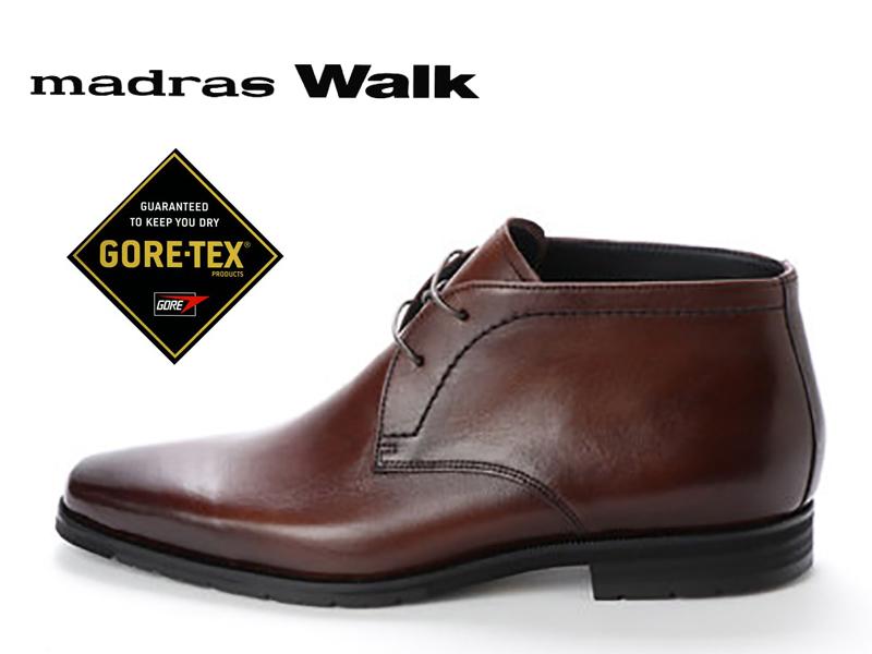 madras Walk マドラスウォーク ゴアテックス ビジネスシューズ GORE-TEX 3E SPMW5913 DARK BROWN ダークブラウン 茶 メンズ 防水 本革 レザー レインシューズ チャッカブーツ ショートブーツ