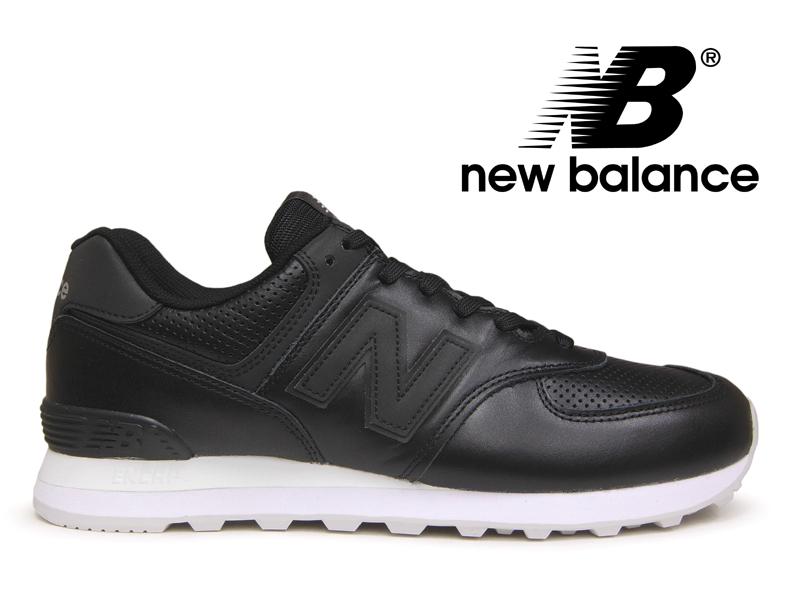 【2018年リニューアルモデル】NEW BALANCE ML574 DAK ニューバランス レディース メンズ ブラック レザー 黒【国内正規品】