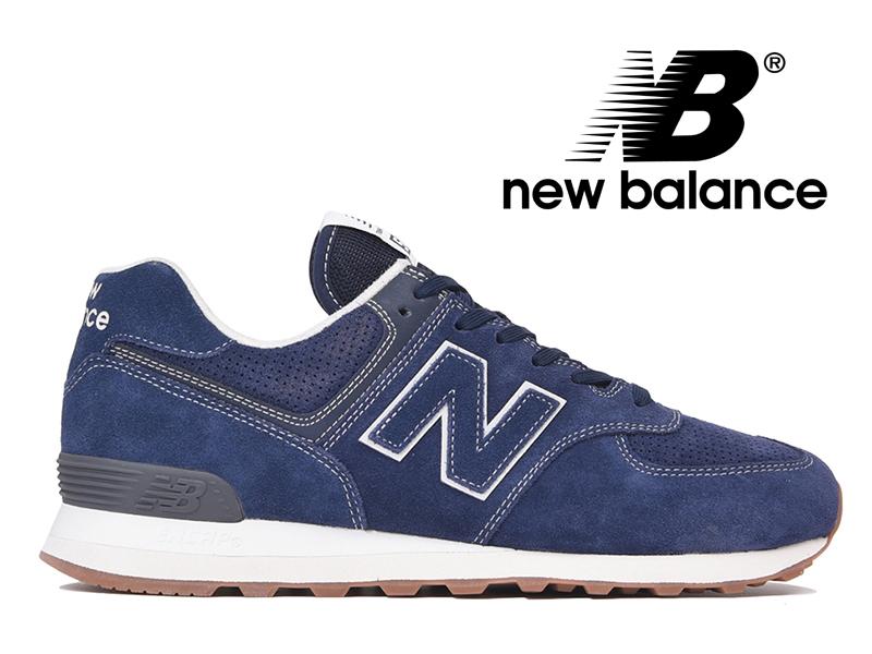 【2018年リニューアルモデル】NEW BALANCE ML574 ESG ニューバランス レディース メンズ ピグメント (ネイビースエード) 紺【国内正規品】