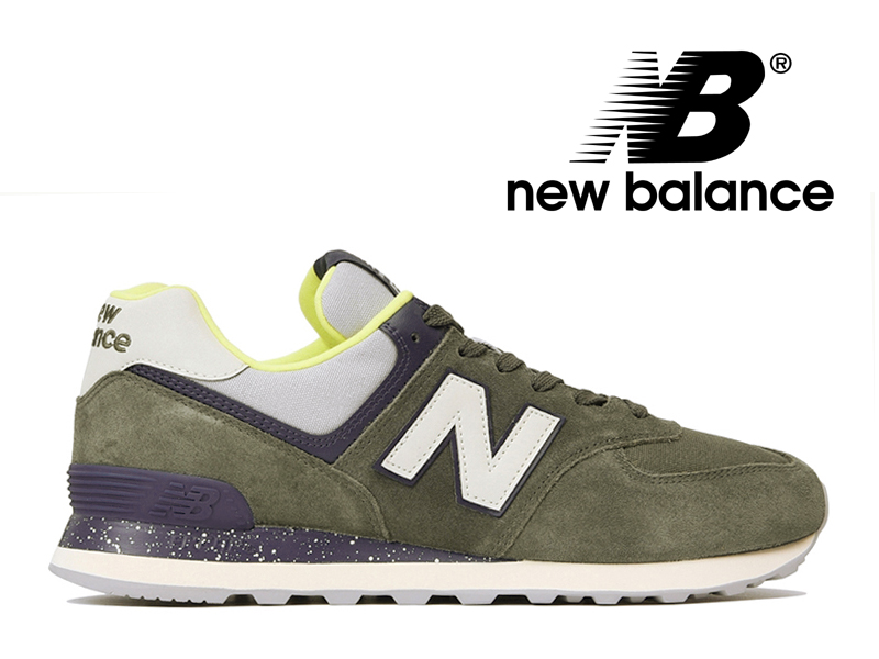 lowest price 551f0 522a4 NEW BALANCE ML574 HVC New Balance sneakers Lady's men olive-green