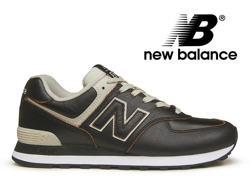 【2018年リニューアルモデル】NEW BALANCE ML574 LPK ニューバランス メンズ ブラック レザー 黒【国内正規品】
