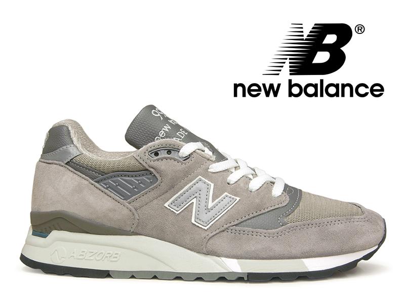 【残り27.5 28.0センチ】NEW BALANCE M998 GY USA ニューバランス 998 グレー アメリカ製【国内正規品】