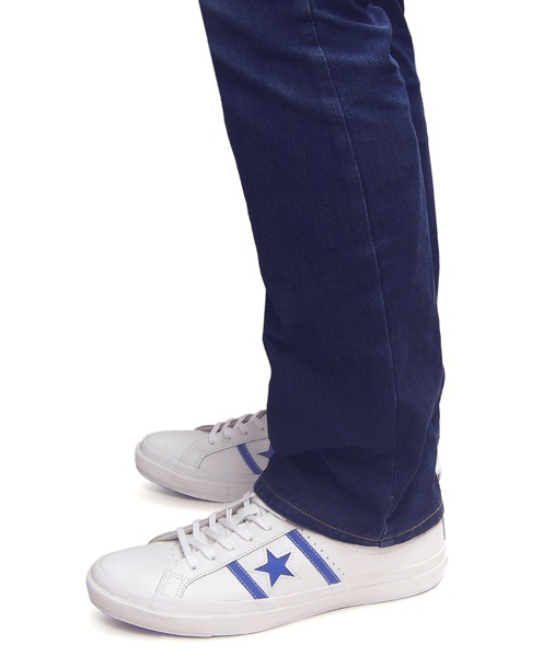 CONVERSE STAR&BARS LEATHER Converse star & Byrds leather sneakers white blue light blue Lady's men one star