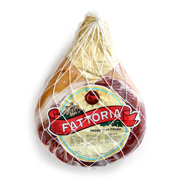 【送料無料】『ファットーリア・ブランド』のプロシュート!イタリア産(パルマ製造)ボンレス原木10ヶ月熟成【約6kg】【冷蔵のみ】【D+0】※ジェンナーリ社から変更となっております。