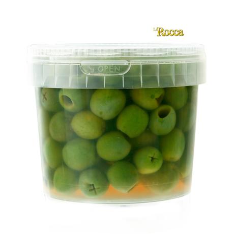ラロッカ フレッシュ 生グリーンオリーブ 種無し 400g <シチリア産> 【冷蔵/冷凍可】【D+0】