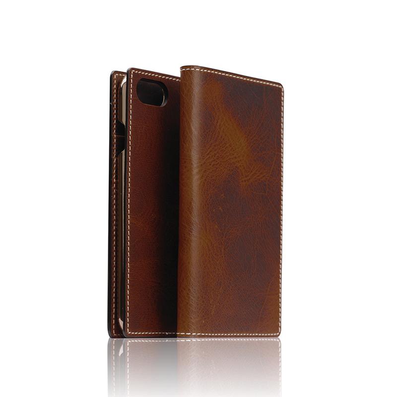 ポイント10倍 iPhone8 iPhone7 ケース 手帳型 SLG Design Badalassi Wax case アイフォン 本革 カバー