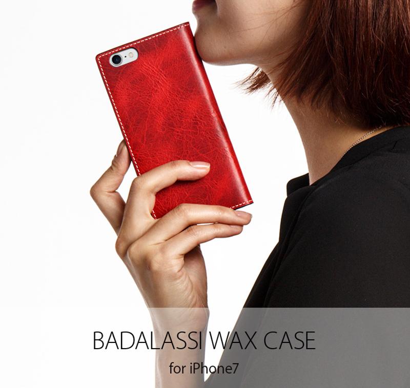 ポイント10倍 充電ケーブルOR保護フィルムプレゼント中 iPhone8 iPhone7 ケース 手帳型 SLG Design Badalassi Wax case アイフォン 本革 カバー