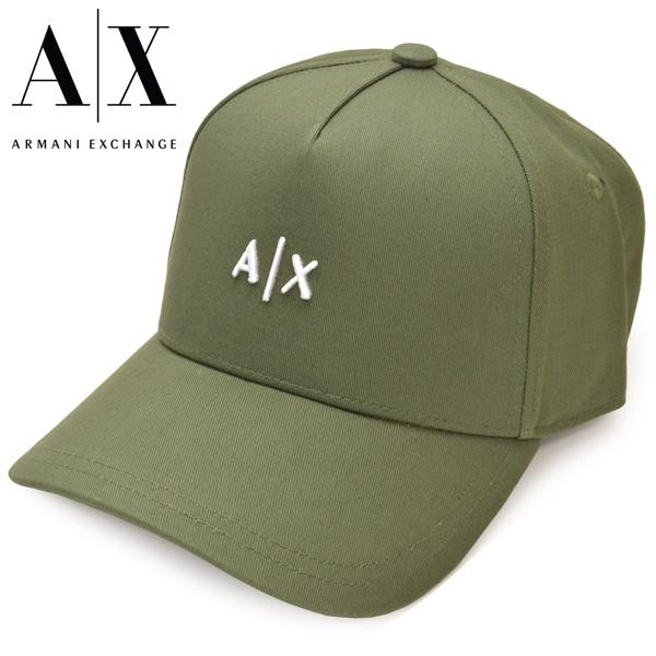 キャップ 帽子 ロゴ アルマーニ ブランド ベースボールキャップ アルマーニエクスチェンジ メンズ グリーン 60AX ARMANI EXCHANGE 海外並行輸入正規品 954112 ディスカウント eax20s002 05580