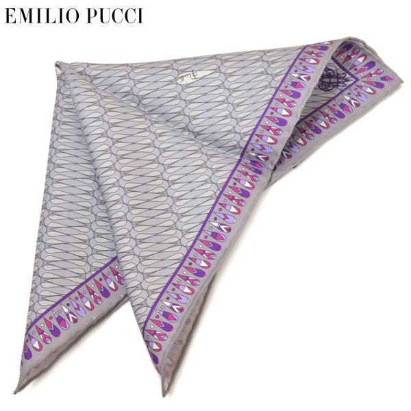 チーフ ギフト プレゼント ブランド EMILIO 今季も再入荷 PUCCI エミリオ プッチ GRAY セール特別価格 ポケットチーフ eep19w137 メンズ プッチ柄シルクポケットチーフ エミリオプッチ ライトグレー サイズ32×32cm