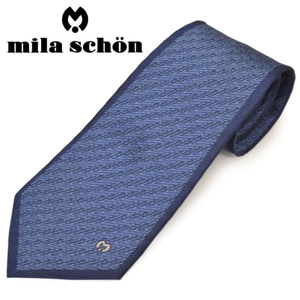 ネクタイ ギフト プレゼント 贈り物 ブランド mila schon ミラ ショーン ネクタイミラ 迅速な対応で商品をお届け致します 21701-2 サイズ剣幅9cm メンズ BLUE ブルー ストライプ柄シルクネクタイ ems20s016