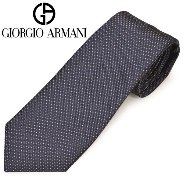 ネクタイ ジョルジオ アルマーニ メンズ GIORGIO ARMANI 2020年SS春夏新作 ドット柄シルクネクタイ(サイズ剣幅8cm)ega20s026 0P947-00036 ネイビー