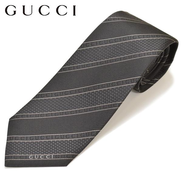 GUCCI グッチ メンズ ロゴラインストライプ柄ネクタイ サイズ剣幅8cm egc17w001 499694 4B002 1000:ブラック