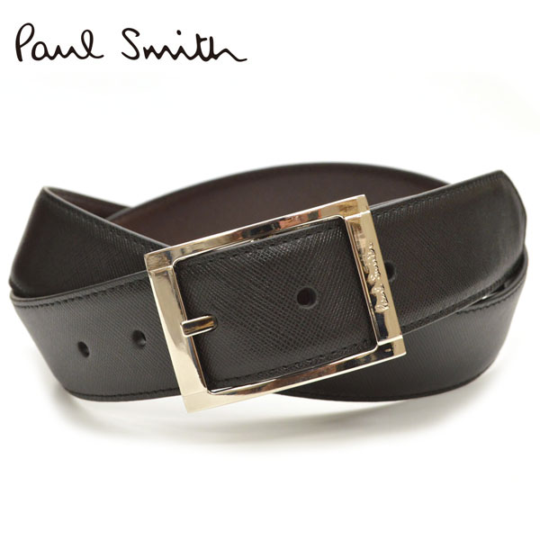 Paul Smith ポール スミス メンズ リバーシブルレザーベルト サイズ調整可能 eps18s020 M1A-4437-ACUT:ブラック×ブラウン
