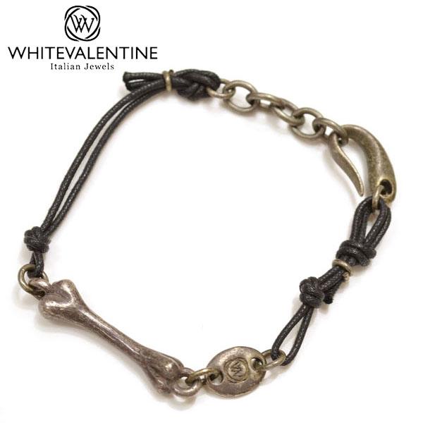 WHITE VALENTINE ホワイトバレンタイン アクサセリーOTBR 国内在庫 10250 :BLACK メンズ サイズ wb035 OTBR デザインブレスレット :ブラック マート F レディース