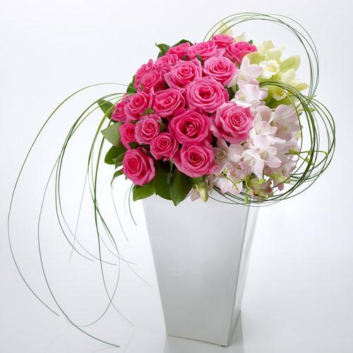 【日比谷花壇】アレンジメント「ピンクルージュ」 ネット限定 ギフト プレゼント 誕生日 記念日