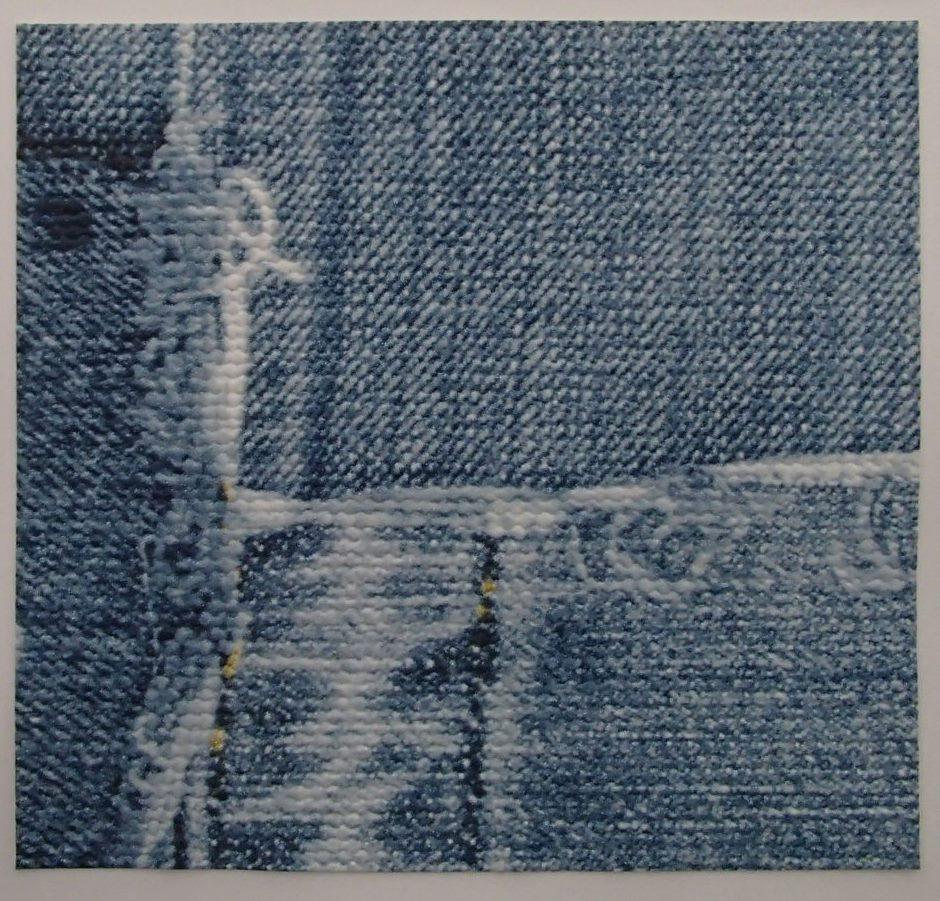 楽天市場 デニムパッチワーク風 のり付き壁紙 壁紙屋ヒッキー