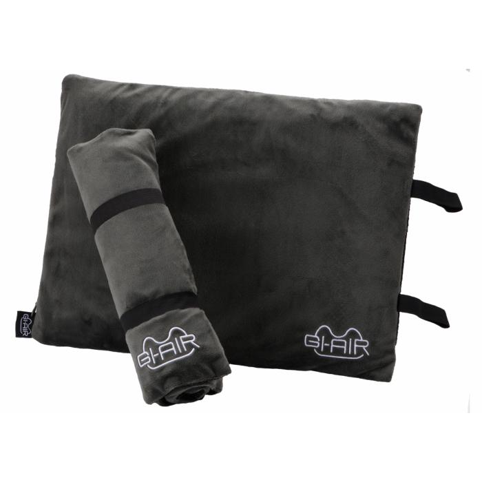 GI-AIR Inflator Cushion ナイトグレイ インフレータークッション式クッション マイクロベルベット繊維使用 高品質新品 レジャー テレワーク 在宅勤務 今だけスーパーセール限定 スポーツ 旅行