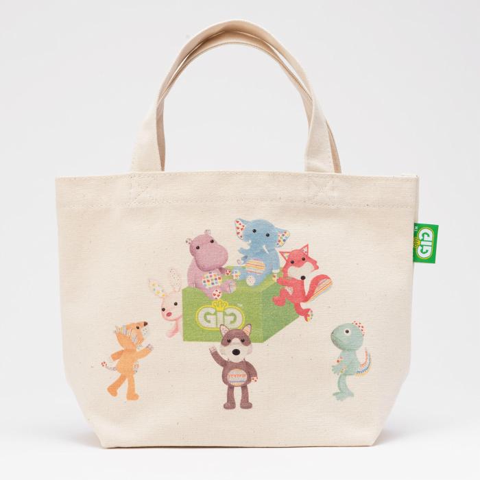 GiGi ジジ のオーガニックコットンを使用したミニトートバッグです 小物やお弁当をいれてお散歩に行くのに便利なサイズ 一部予約 GiGi-ジジ トートバッグミニ #ぬいぐるみ #雑貨 #おしゃれ #オーガニックコットン #プレゼント 祝開店大放出セール開催中 #キャラクター