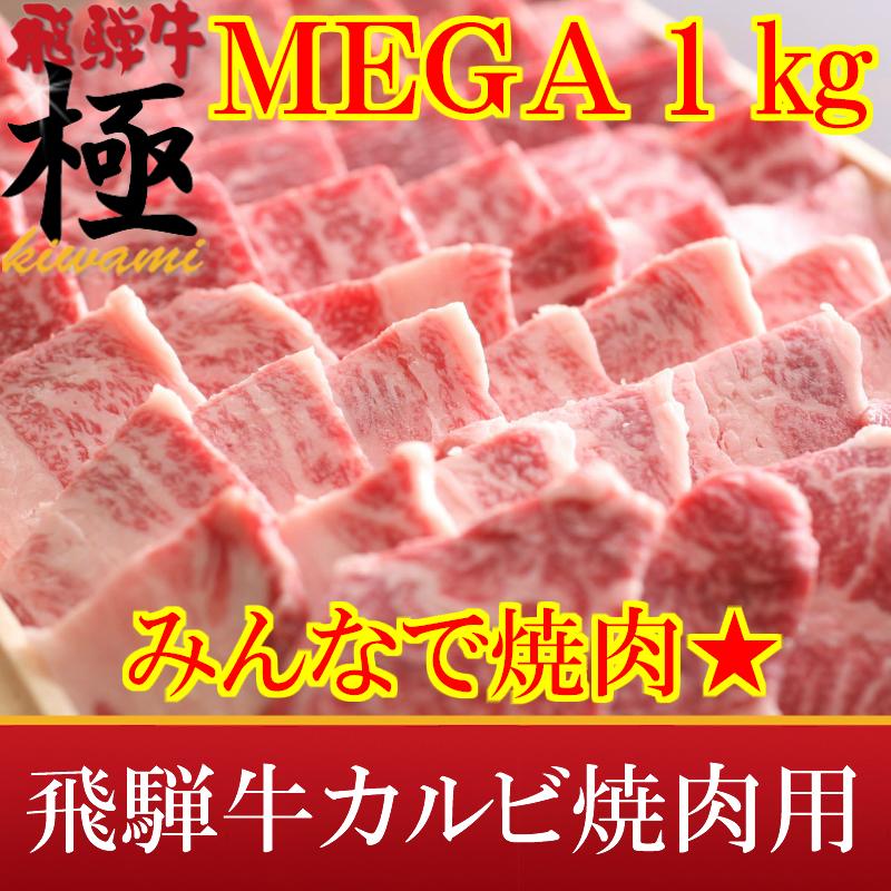 MEGA盛り1kg★がっつり系★極上飛騨牛カルビ焼肉用10P01Mar15【TOKAI20140802】