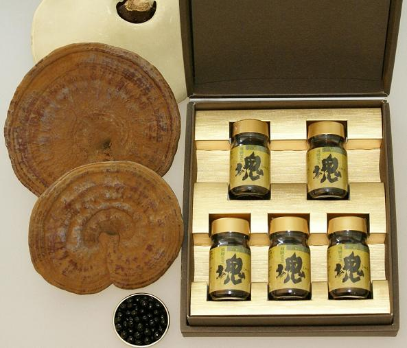 超高濃度霊芝エキス製品 塊(エキス粒) 1箱(90粒X5瓶)約5ヵ月分 【送料無料】
