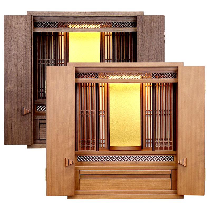 モダン仏壇・チェルシー 16号【仏壇】家具調仏壇に珍しい障子デザインが組み込まれた和を感じさせ、扉の取っ手がリボン型にもなるデザイン性豊かなお仏壇
