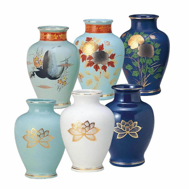 陶器 夏目花瓶 4.5寸(高さ13.5cm)