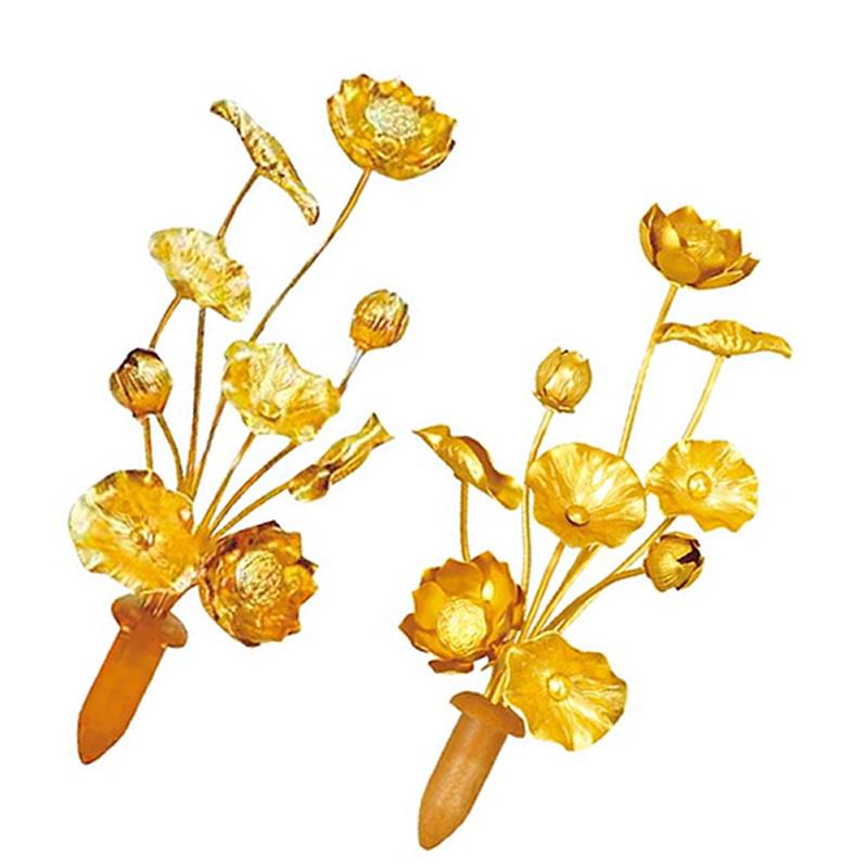アルミ常花(1対) 3寸:花3本(高さ12.0cm)