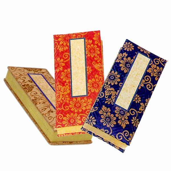 シンプルでオーソドックスな鳥の子紙の過去帳 鳥の子 過去帳 縦:9.0cm 『1年保証』 サイズ:3.0寸 代引き不可