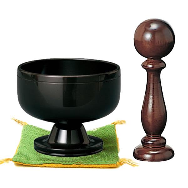高台リン【遊亀】黒艶色 サイズ:1.8寸(リン口径:5.4cm)