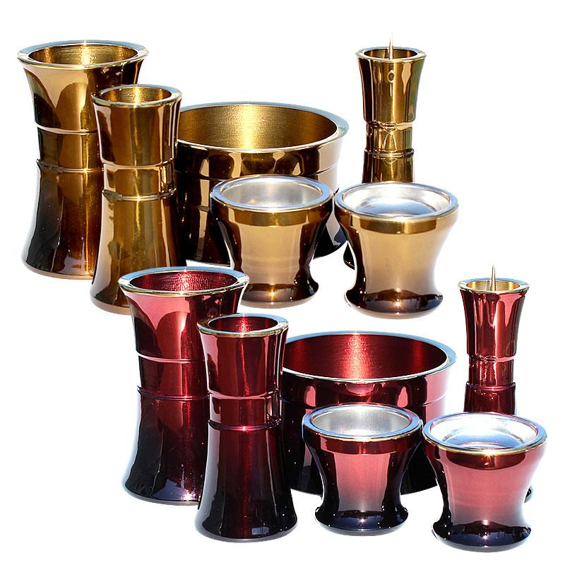 ゆめか 仏具6点セット 2.5寸【仏具】【仏具セット】【モダン仏具】デザインがスタイリッシュで大人な雰囲気漂う仏具の6点セットです。カラーも大人なワインカラーとシックなオークカラーでご用意しています。