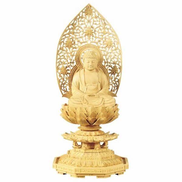 仏像・座釈迦(拓殖 八角台座) 1.8寸(高さ:21.0cm)