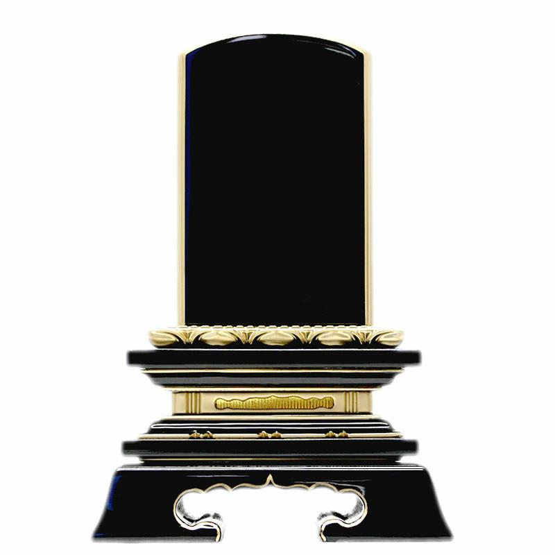 塗位牌・巾広 蓮華付春日 3.5寸(高さ:18.2cm)【仏具】【位牌】名入れ2名分無料!蓮華のデザインがおしゃれでシンプルさと融合した札幅が広めのバランスの優れた巾広位牌