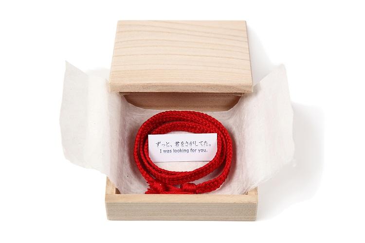 ウェディングバージョン(太い赤色) 飛騨高山の組紐 のブランド くみひだ 君の名は の聖地 飛騨の職人の手作り 100% 絹 を使用!