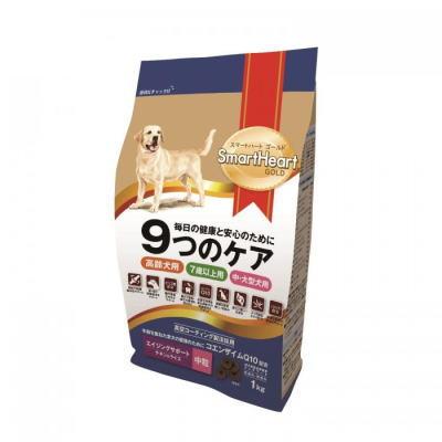 スマートハートゴールド エイジングサポート チキン&ライス(1kg・中粒)12個セット【送料無料】SHG・ドックフード