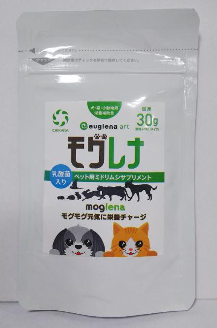 ペット用サプリ ミドリムシのチカラ モグレナ 30g 3個【送料無料】【10】