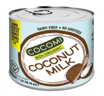 ココミ オーガニック ココナッツミルク 200ml 24個セット【送料無料】【有機JAS認定】