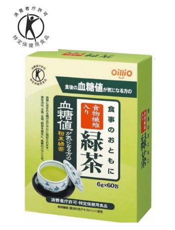 【特定保健用食品】血糖値が気になる方 食物繊維入り 緑茶 60包 10個セット【送料無料】日清オイリオ