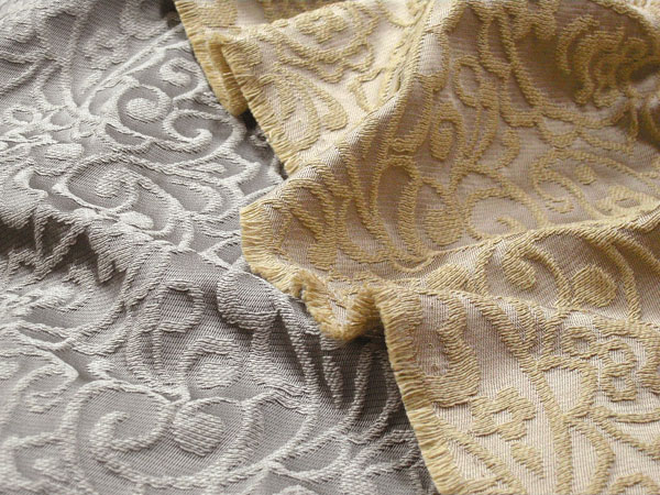 Italy ONES acetate cotton swelled Jacquard Paisley (Beige / grey) A