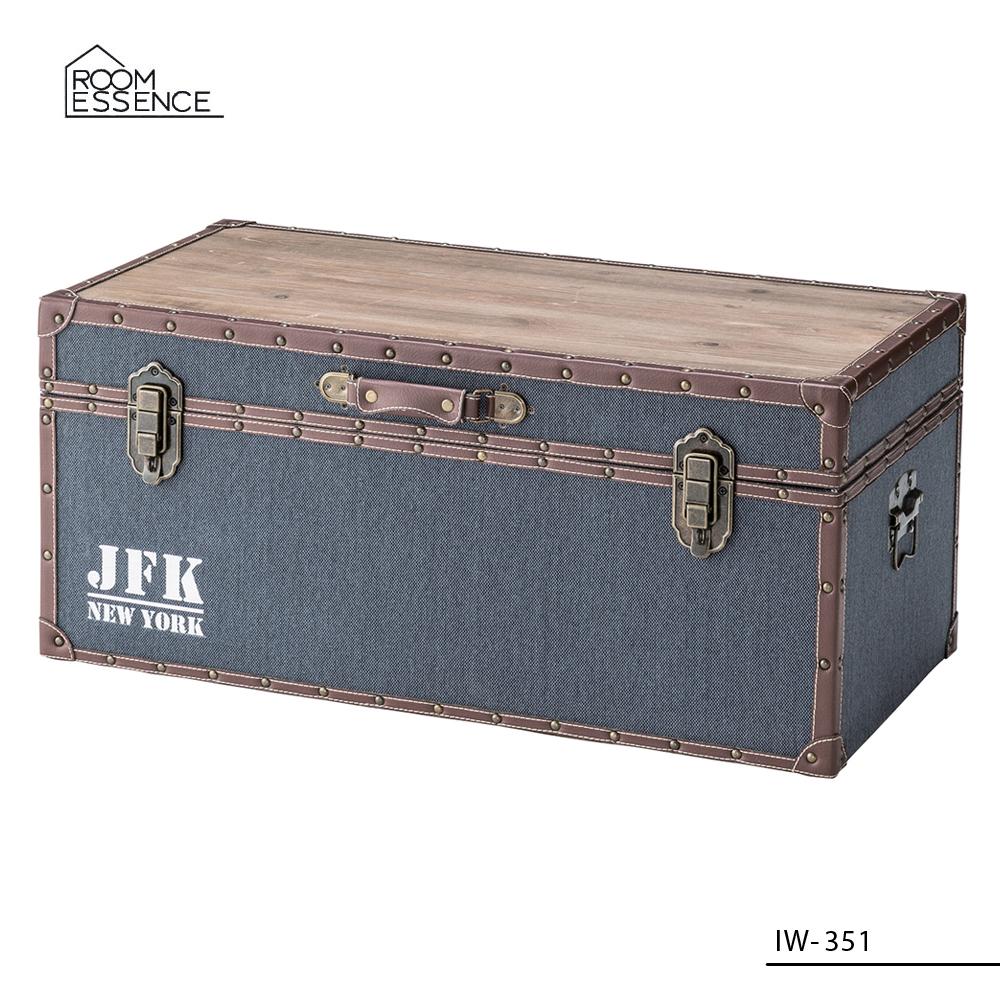 トランクテーブル [IW-351] ■ センターテーブル ローテーブル 収納ボックス おしゃれ アメリカン雑貨 【代引き不可】【東谷】