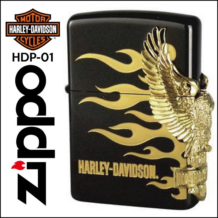 【Zippo】HARLEY-DAVIDSON ハーレーダビッドソン サイドメタル [HDP-01] ■ ジッポー オイルライター アメリカン雑貨 【送料無料】