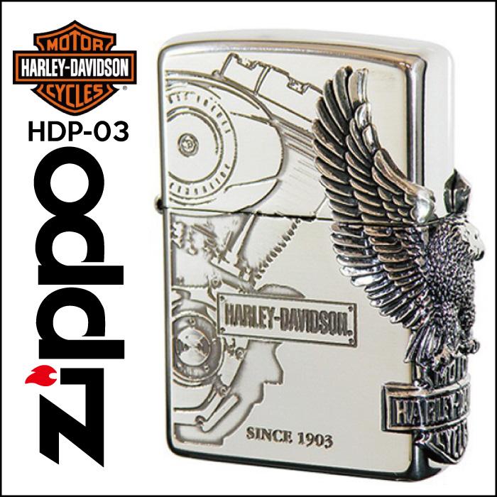 【Zippo】HARLEY-DAVIDSON ハーレーダビッドソン サイドメタル [HDP-03] ■ ジッポー オイルライター アメリカン雑貨 【送料無料】