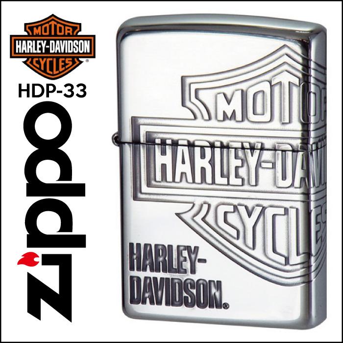 【Zippo】HARLEY-DAVIDSON ハーレーダビッドソン [HDP-33] ■ ジッポー オイルライター アメリカン雑貨 【送料無料】