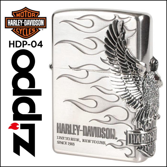 【Zippo】HARLEY-DAVIDSON ハーレーダビッドソン サイドメタル [HDP-04] ■ ジッポー オイルライター アメリカン雑貨 【送料無料】