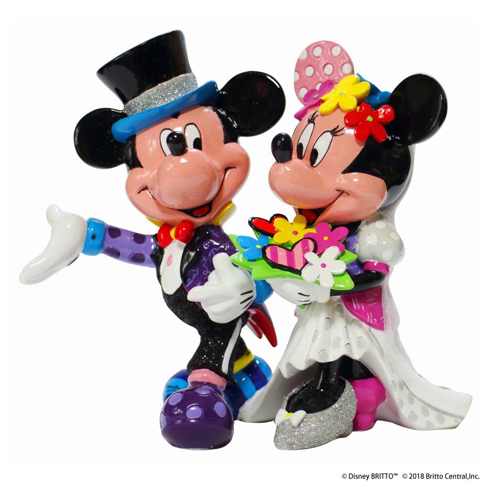 ディズニーフィギュア Disney ブリット ミッキー&ミニーウエディング [4058179] ■ キャラクター 人形 置物 インテリア ミッキーマウス ミニーマウス Mickey Minnie 【代引き不可】【BRITTO】