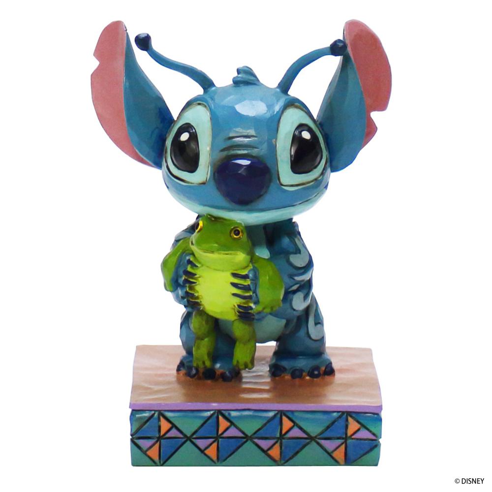 ディズニーフィギュア Disney スティッチウィズフロッグ [DTR4059741] ■ キャラクター 人形 置物 インテリア Stitch 【代引き不可】【DISNEY TRADITIONS】