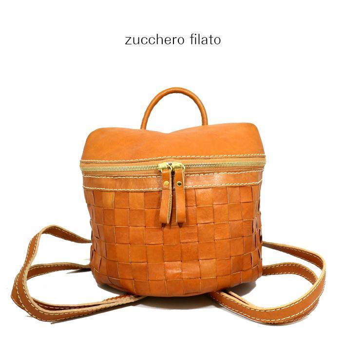【2019新作】【zucchero filato/ズッケロフィラート】カウレザーメッシュミニリュック