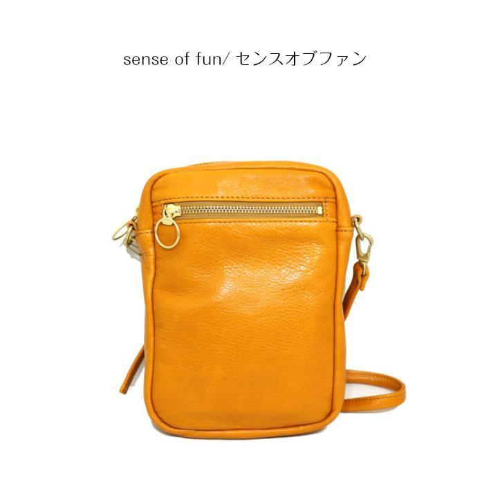 【2019新作】【国産】【sense of fun/センスオブファン】カウレザーショルダーバッグ